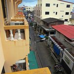 Street view from my top floor balcony. Plenty of stuff to see/do on the alley