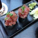 Zuviel Sushi Reis, und zu wenig Thunfisch-Tartar