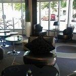 Koselig område i lobby/bar