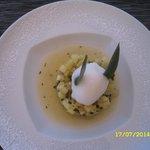Tartare ananas et sorbet citron