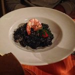 seafoods risotto with black truffles - must try