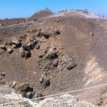 at the rim of the active volcano