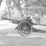 Ancien canon dans un parc