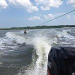 Kneeboarding with Outside Hilton Head & Captain Marcus