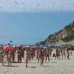 A local radio show was doing a beach dance-a-thon.