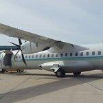 Flyme flight at Fuvahmulah Airport