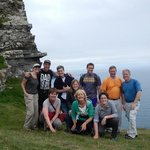 Our group with Pat on a beautiful day at the Cliffs