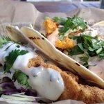 South Beach, FL. Fried Chicken  & Shrimp tacos. @finnygo