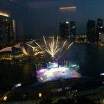 Singapore Birthday preparations, view from Marina Bay View @ the Ritz Carlton Millenia