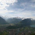 Ausblick auf das Bödeli und den Thunersee