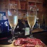 Bellota parma ham and champagne..