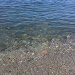 Playa de enfrente del Hotel (piedras por todas partes bajo el agua)