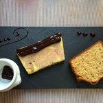 Foie gras saveur aux 2 chocolats et pain d'épices