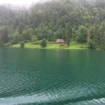 Another view from the boat of the clear water and beautiful surroundings