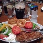 The 10oz rib-eye steak special at The Hart Inn, Sandsend.