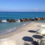 Morgens an einem der drei Strandabschnitte