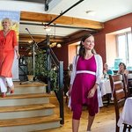 Hosting a fashion show at Heirlooms Bristro , Almonte