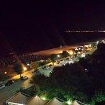 vista notturna versante sud dal balcone della 402