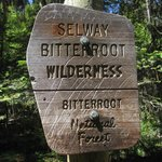Sign entering Wilderness
