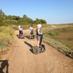 On the Segway tour in Algarve