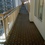 Outside our ADA accessible room.  One of the long walkways to the elevator