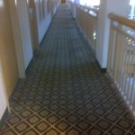 Second long walkway to elevator.  For those with mobility issues this is difficult.