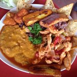 Typical Nicaraguan lunch on the Nicaragua tour!  Yummy!!