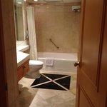 Nice big marble bathroom