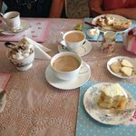 Had a 5* cake and coffee stop. Beautiful English tea rooms with brilliant service. Well