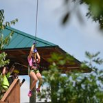 Madison on the Zip Line