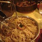 carbonara & veau à la pancetta avec frites maison