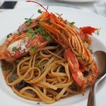 Linguini with King Prawns