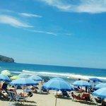 La spiaggia convenzionata dell'hotel