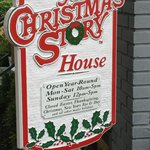 Welcome sign at the Christmas Story House