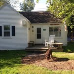 view of the cabin and our porch area