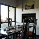 Breakfast fireplace