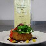 Beautiful fishcake at Rathcroghan Cafe