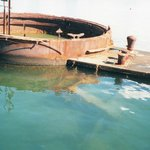 The USS Arizona Just Breaks The Water's Surface