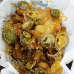 """"""" Fiery fries """" : garlic, jalapeños, cajun season ,  cheese & pure amazingness!"""
