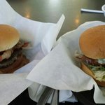 Smoke House burger & Bacon blue burger !