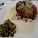 Carillada a classic pork dish it tastes lovely practically breaks on your mouth very tender.
