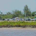 The dedication ceremony for the Everglades Park was held on the runway of the Everglades Airport