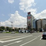 Slavia economy hotel is in the high building