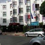 Entrada del peor hotel de Rabat