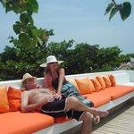 Solarium en la terraza del Hotel Delirio