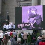 Begravningsakten  på storbild fotbollslegenden Grosics Gyula 1926-2014