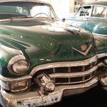 1949 and 1953 Cadillacs in the Moody garage.