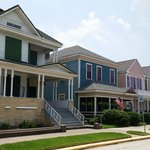 A row of restored homes