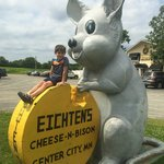 Brandon enjoyed with meal at Eichens!