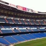 Nice shot of Bernabeu from above the pitch